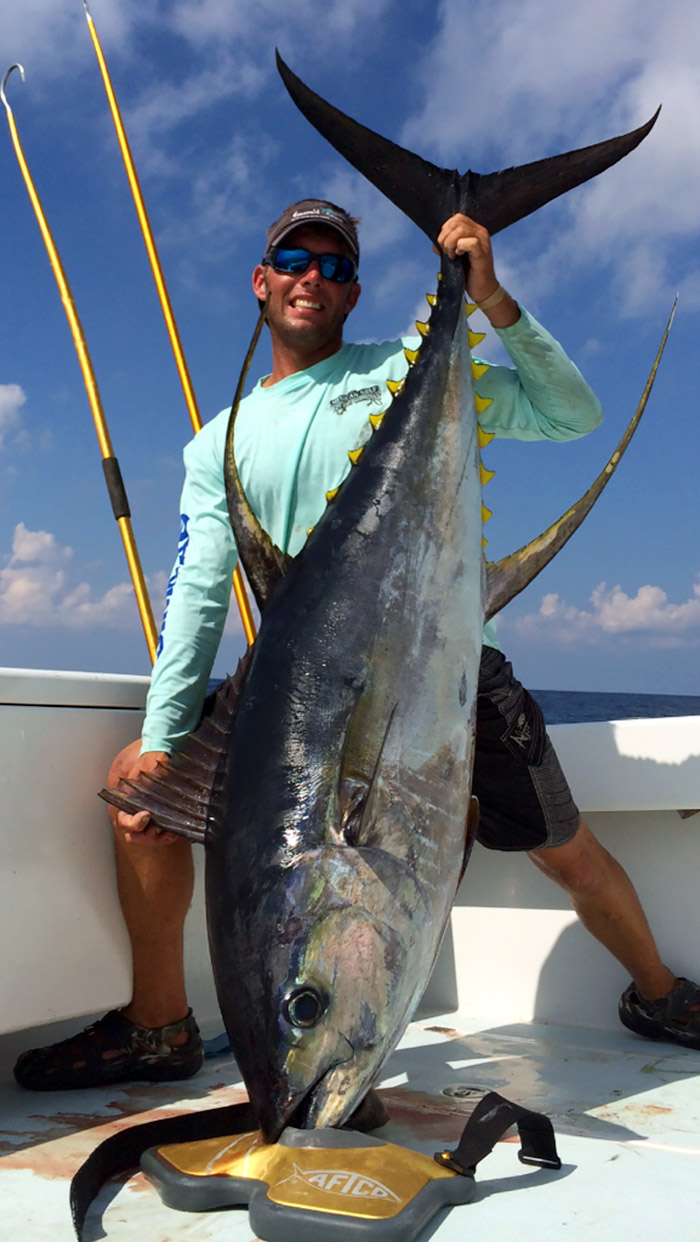travis mayeux yellowfin tuna - 148lb mgfc photo
