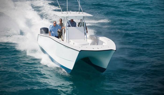 freemanboatworks 33ft catamaran. mgfc photo