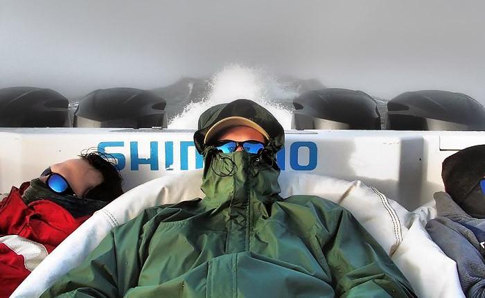 e-SeaRider bean bag chairs onboard the ShockWave at MGFC. Capt. Jordan Ellis
