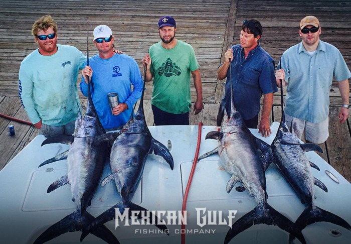 Swordfish charters success with swordfish at mgfc for Mexican gulf fishing company