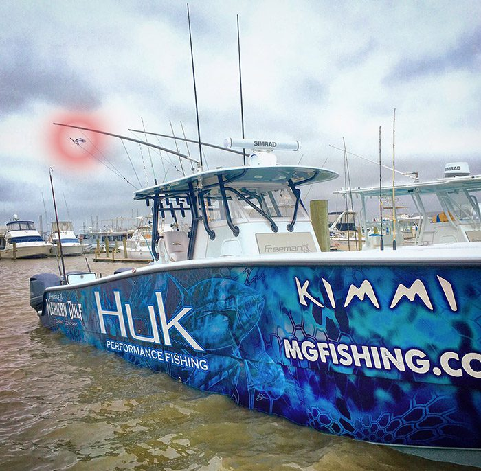 f/v Kimmi maiden voyage with marlin flag flying. MGFC photo