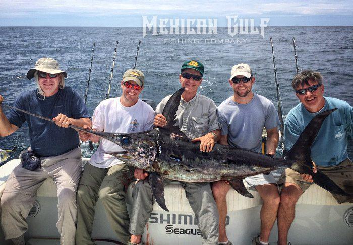 Vic Teumer and Billy Wells swordfish. MGFishing.com swordfish action daytime