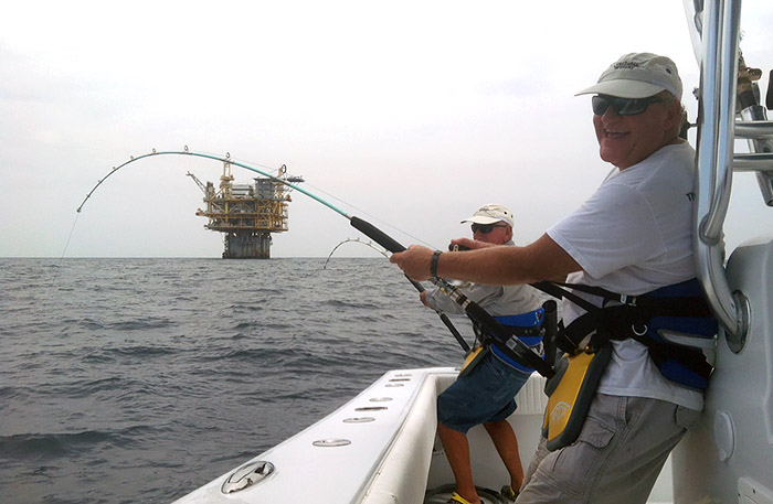 Capt Billy Wells double tuna photo