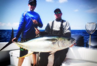 yellowfin-tuna-venice-mgfishing.com photo. Rick Couch on the f/v Wild Bill
