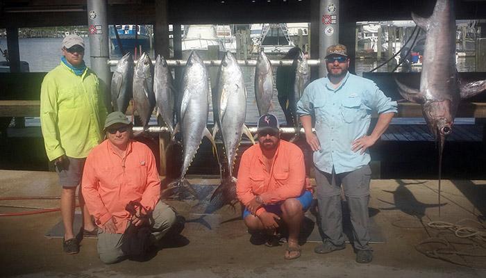 yellowfin tuna and blue marlin. Venice, LA. MGFishing.com Mgfc photo