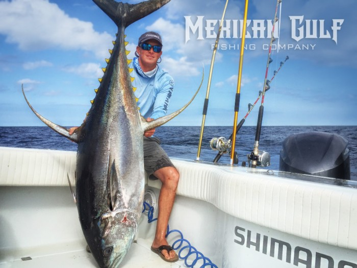 Big yellowfin tuna fishing charters. Capt. Colin Byrd with The MGFC. MGFC photo yellowfin tuna